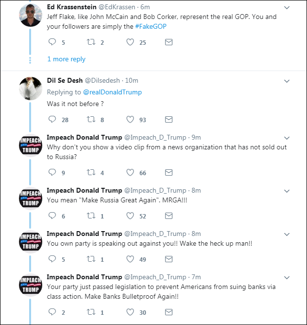 0002 Trump Brags About Positive Fake News Report On Twitter & Gets Eaten Alive Instantly Domestic Policy Donald Trump Economy Politics Top Stories