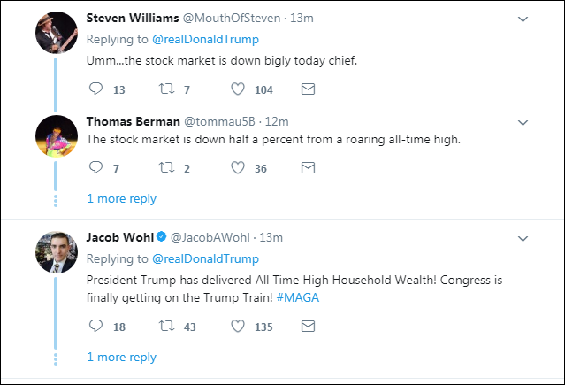 0005 Trump Brags About Positive Fake News Report On Twitter & Gets Eaten Alive Instantly Domestic Policy Donald Trump Economy Politics Top Stories