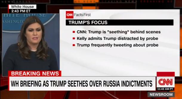 cnn CNN Debuts 'Live Fact Check' Of Sarah Sanders Press Conferences & Trump Will Freak Donald Trump Media Politics Top Stories