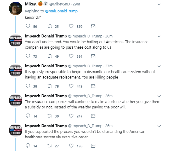 end6 Trump Makes Sudden Health Care Announcement During Early Morning Twitter Rant Donald Trump Politics Top Stories