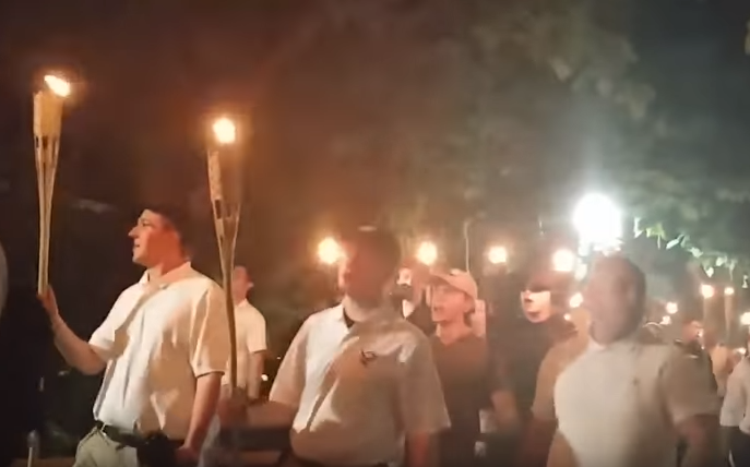 2017-11-17-10_36_05-Charlottesville...Blood-and-Soil-YouTube Trump Tweets Friday AM MS-13 Gang Video & Karma Arrives In Seconds (IMAGE) Donald Trump Featured Nazis Politics Racism Social Media Top Stories Violence