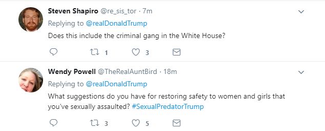 2017-11-17-11_05_21-Donald-J.-Trump-on-Twitter_-_Together-were-going-to-restore-safety-to-our-stre Trump Tweets Friday AM MS-13 Gang Video & Karma Arrives In Seconds (IMAGE) Donald Trump Featured Nazis Politics Racism Social Media Top Stories Violence