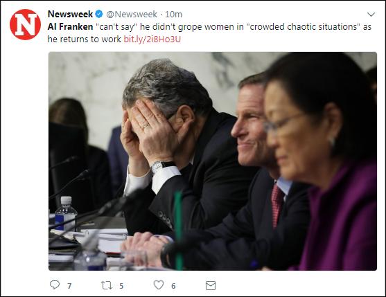 bbbbb7 Senator Al Franken Breaks His Silence On Sexual Misconduct Allegations Corruption Crime Donald Trump Feminism Politics Top Stories