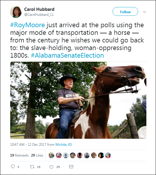 1115 Red-Neck Roy Moore Caught Riding Farm Animal To Voting Booth & Images Have Gone Viral Child Abuse Corruption Crime Donald Trump Election 2016 Politics Top Stories