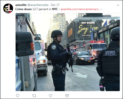 dd2 Trump Claims NYC Is Ravaged By Violence - New Crime Statistics Prove He's A Big Fat Liar Corruption Crime Feminism Politics Top Stories