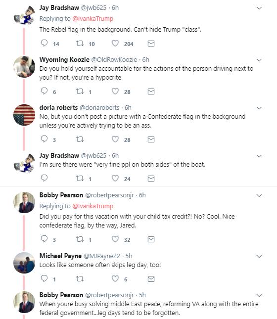 fifteem Ivanka Trump's Vacation Photos Leaked; Racist Symbol Blatantly Shown Donald Trump Politics Social Media Top Stories