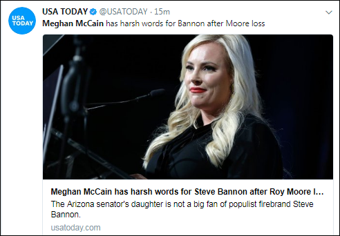 xxx Meghan McCain Sends Hilariously Vulgar Tweet To Steve Bannon After Roy Moore Loss Corruption Domestic Policy Donald Trump Politics Top Stories