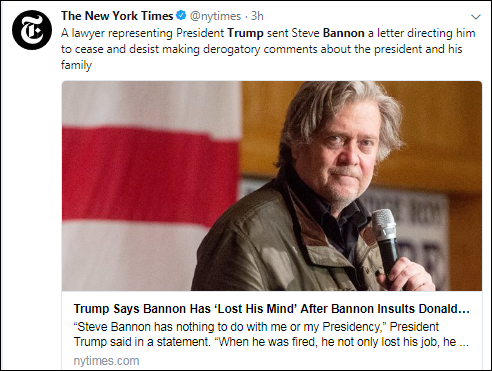 16 BREAKING: Trump Sends Legal Team After Bannon In Scared Thursday Morning Move Corruption Donald Trump Election 2016 Politics Top Stories