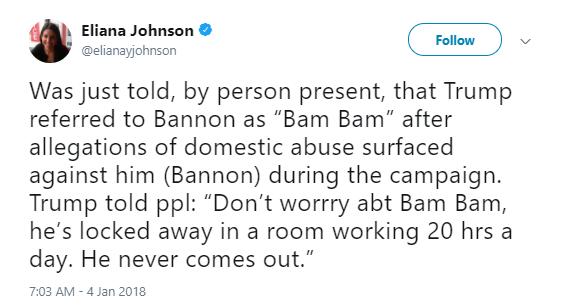 politico-trump-nickname Trump Gave Bannon A Nickname After Hearing He's A Wife-Beater & It's Disturbing Corruption Donald Trump Politics Social Media Top Stories