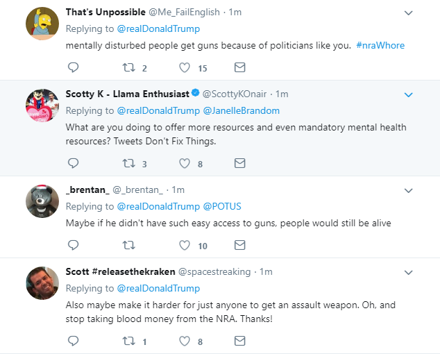 2018-02-15-07_32_39-Donald-J.-Trump-on-Twitter_-_So-many-signs-that-the-Florida-shooter-was-mentally Trump Blames 'Neighbors And Classmates' Of Shooter For Deadly School Rampage Crime Donald Trump Featured Gun Control Politics Social Media Top Stories