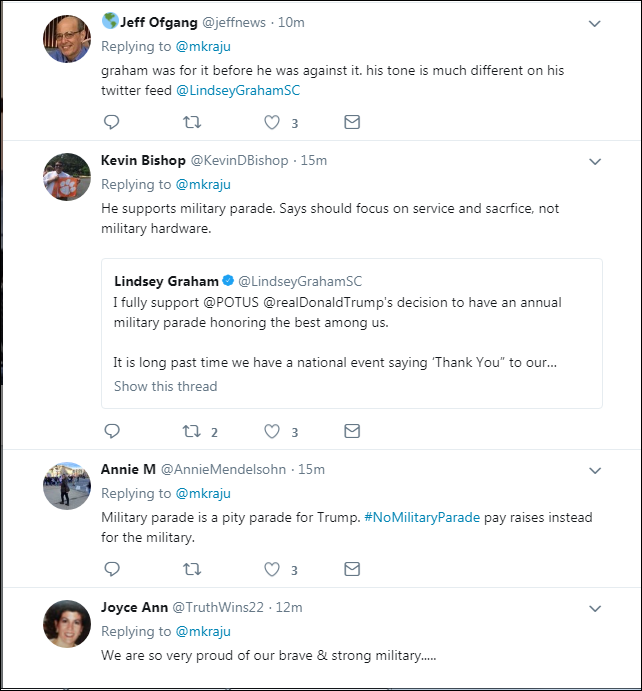 213 Lindsey Graham Responds To Trump's 'Cheesy' Parade With A Harsh Dose Of Reality Donald Trump Military Politics Top Stories