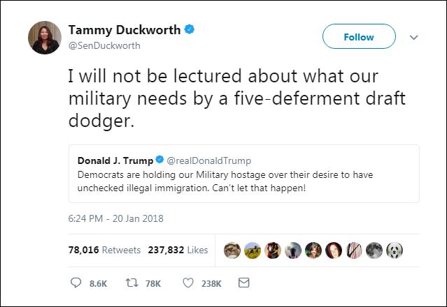 228 Wounded Black Hawk Pilot Senator Tammy Duckworth Just Took On Trump Like A Boss Corruption Domestic Policy Donald Trump Election 2020 Politics Top Stories