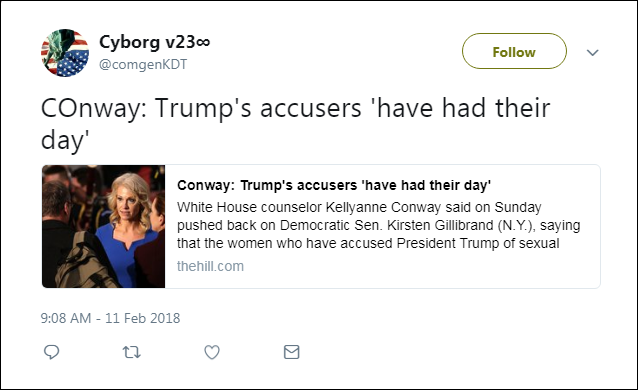 a27 Parasite Kellyanne Conway Makes Disgusting Remarks About Trump's Accusers (VIDEO) Corruption Donald Trump Politics Top Stories