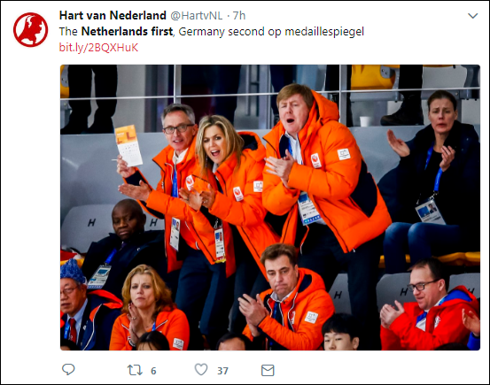 c14 Dutch Olympic Fans Hilariously Troll Trump With Humiliating Banner Broadcast LIVE Donald Trump Politics Top Stories