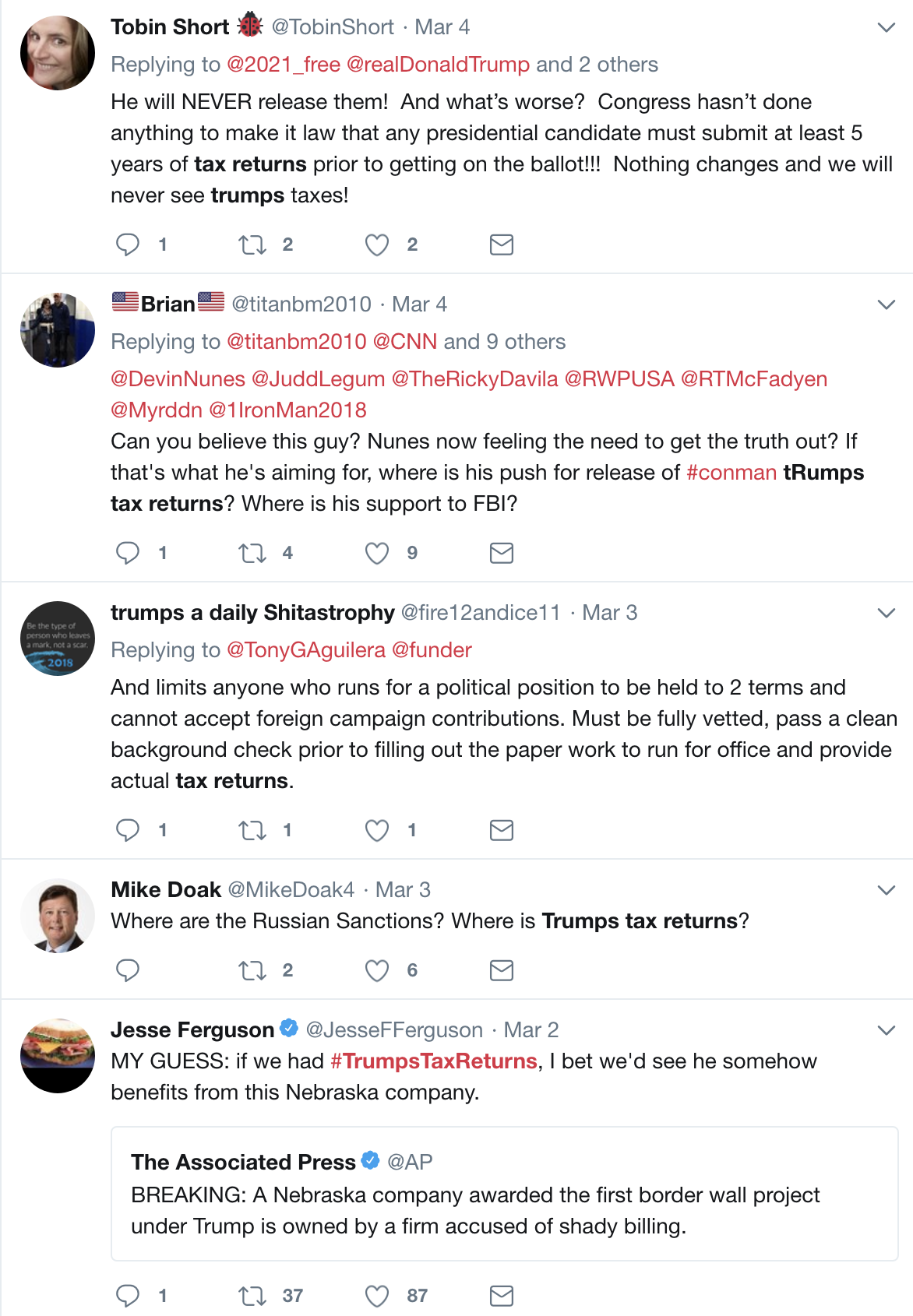 Screen-Shot-2018-03-06-at-1.02.33-PM Trump Freaks; Law Passes Requiring  Him To Release Tax Returns Or Be Disqualified In 2020 Donald Trump Election 2020 Politics Top Stories