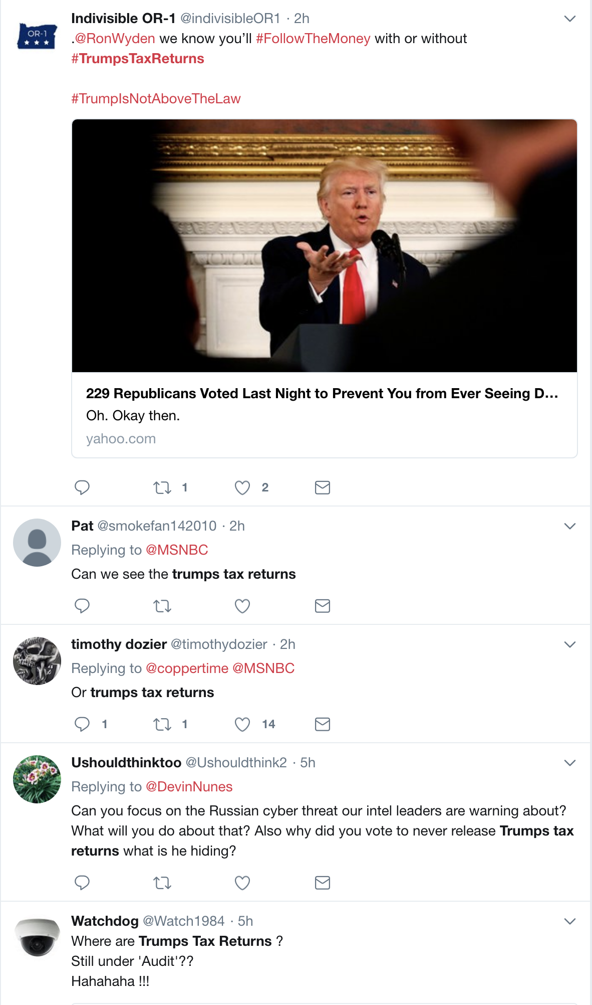 Screen-Shot-2018-03-06-at-1.03.15-PM Trump Freaks; Law Passes Requiring  Him To Release Tax Returns Or Be Disqualified In 2020 Donald Trump Election 2020 Politics Top Stories