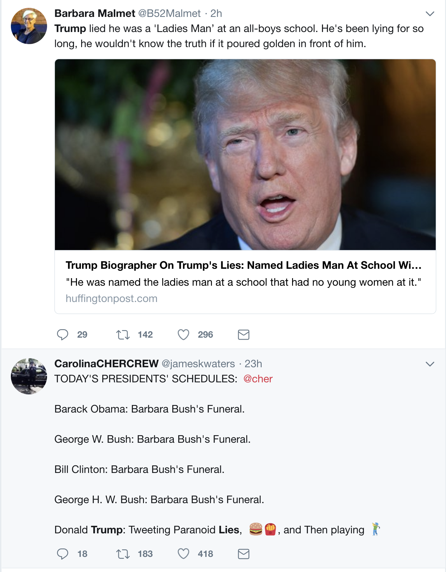 Screen-Shot-2018-04-22-at-10.38.20-AM1 Trump Humiliated; Lies About Being A 'Ladies Man' In School Exposed & It's Hilarious Corruption Donald Trump Politics Top Stories