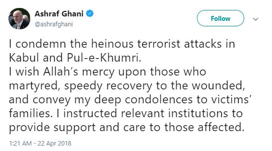 ghani BREAKING: At Least 57 Dead; Bomb Rips Through Voter Registration Center (DETAILS) Donald Trump Politics Social Media Terrorism Top Stories