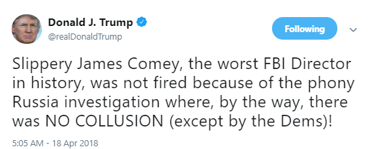 slippery James Comey Tweets About The Anniversary Of His Firing Like A True American Patriot Corruption Donald Trump Politics Social Media Top Stories