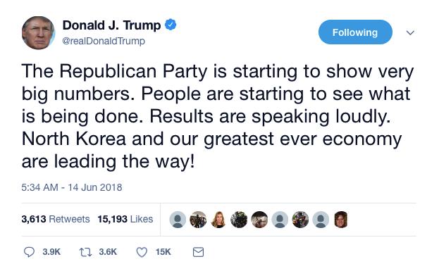 Screenshot-at-Jun-14-08-53-05 Trump Gloats During Thursday AM Pat On The Back Tweet Like An Embarrassment Donald Trump Economy Featured Politics Top Stories