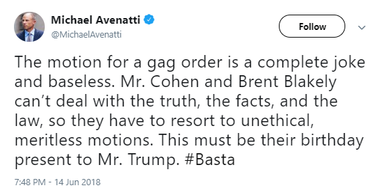 avenatti1 Michael Avenatti Just Issued A Response To Cohen's Gag Attempt On Twitter & It's Perfect Corruption Crime Top Stories