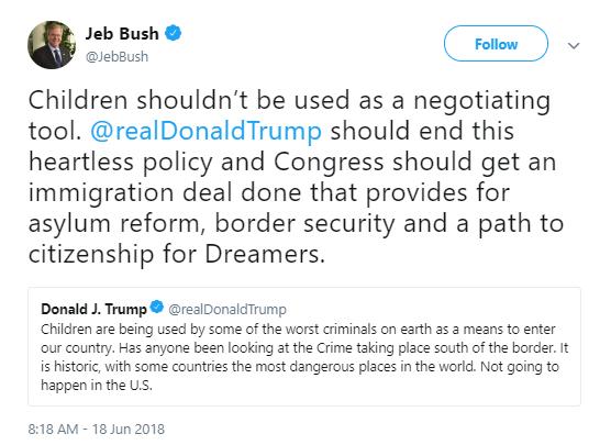 jeb-children Jeb Bush Calls Out Trump For Family Separations - Entire Republican Party Implodes Corruption Donald Trump Immigration Politics Social Media Top Stories