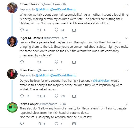 seven4 Jeb Bush Calls Out Trump For Family Separations - Entire Republican Party Implodes Corruption Donald Trump Immigration Politics Social Media Top Stories