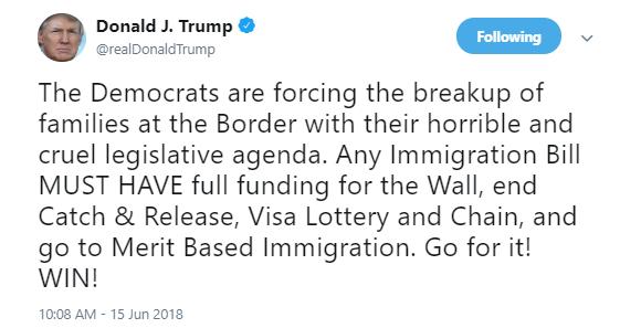 trump-dems-border Jeb Bush Calls Out Trump For Family Separations - Entire Republican Party Implodes Corruption Donald Trump Immigration Politics Social Media Top Stories