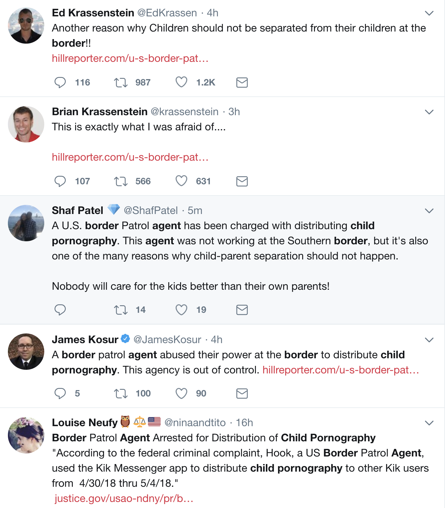 Screen-Shot-2018-07-03-at-12.09.28-PM Border Patrol Agent Caught Distributing Child Pornography; One Of Many Arrested In Bust Child Abuse Corruption Crime Donald Trump Immigration Politics Top Stories