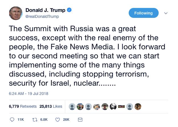 Screenshot-at-Jul-19-10-36-02 Trump Defies GOP & Announces Second Love Meeting With Putin (DETAILS) Donald Trump Featured Politics Russia Social Media Top Stories