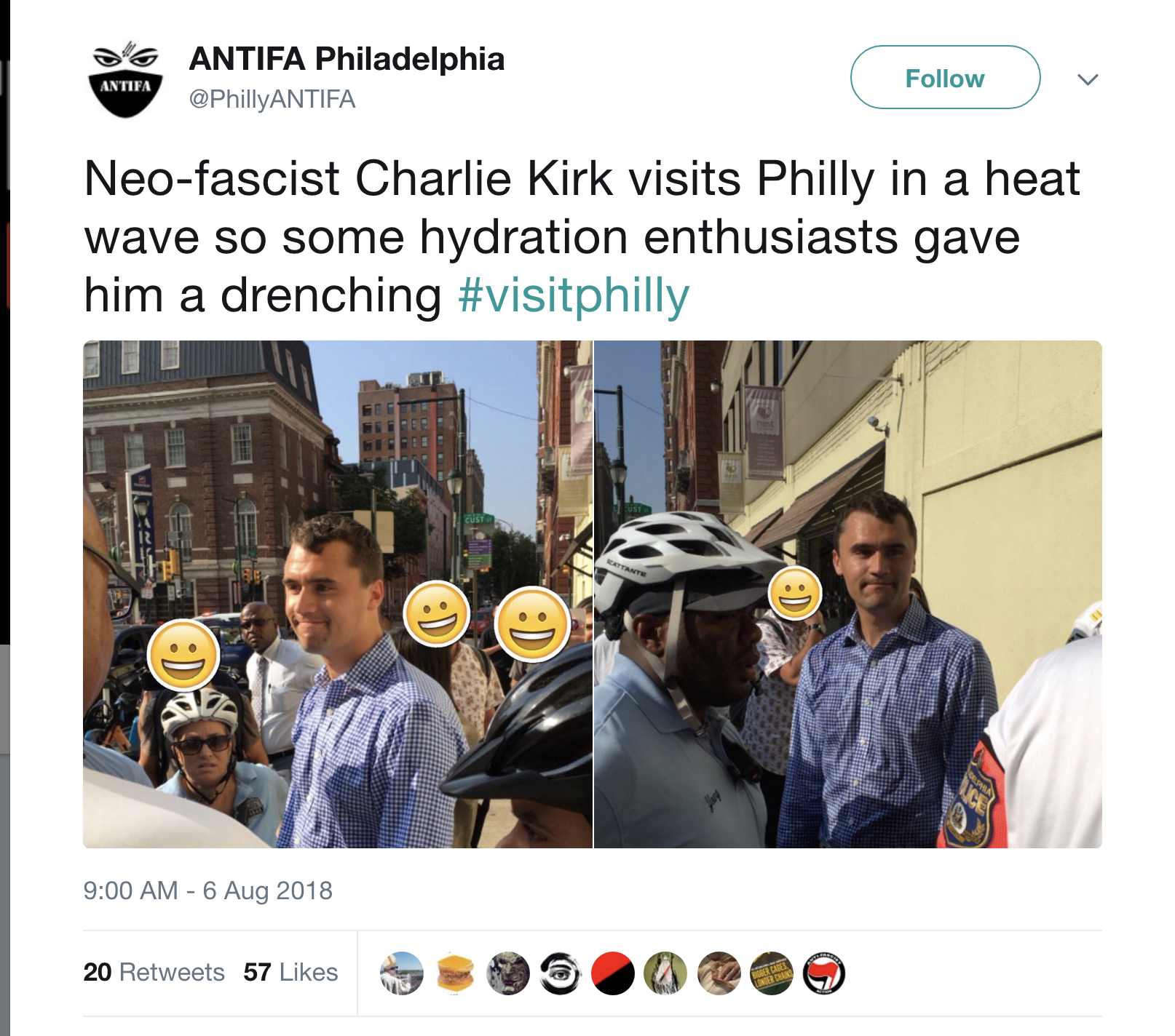 Screen-Shot-2018-08-06-at-11.43.45-AM Charlie Kirk & Candace Owens Found By Anti-Fascist Activists At Eatery - Mayhem Ensues Activism Politics Top Stories