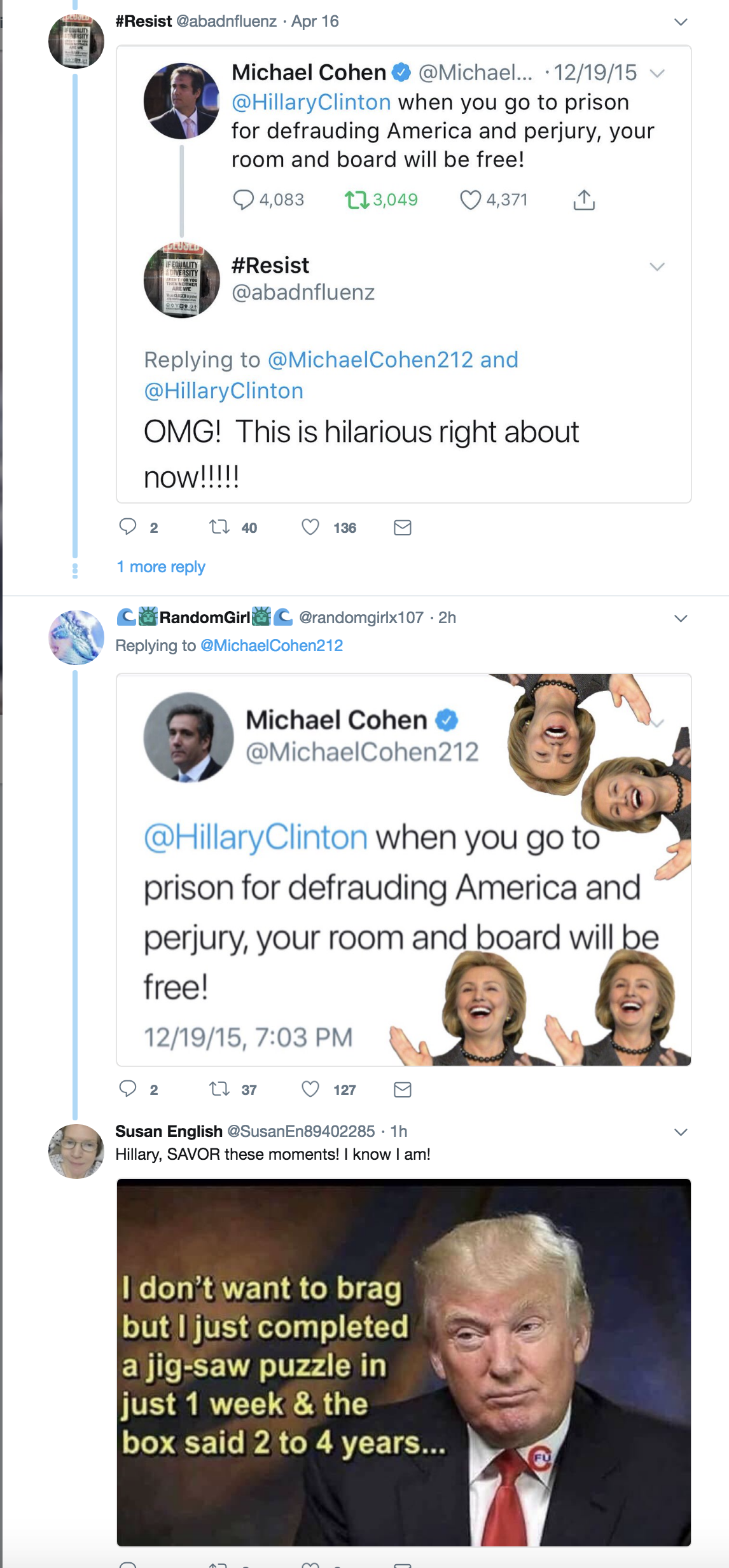 Screen-Shot-2018-08-21-at-4.08.41-PM Old Michael Cohen Tweet About Hillary Clinton Goes Viral Again In The Best Way Possible Celebrities Corruption Crime Donald Trump Election 2016 Politics Top Stories