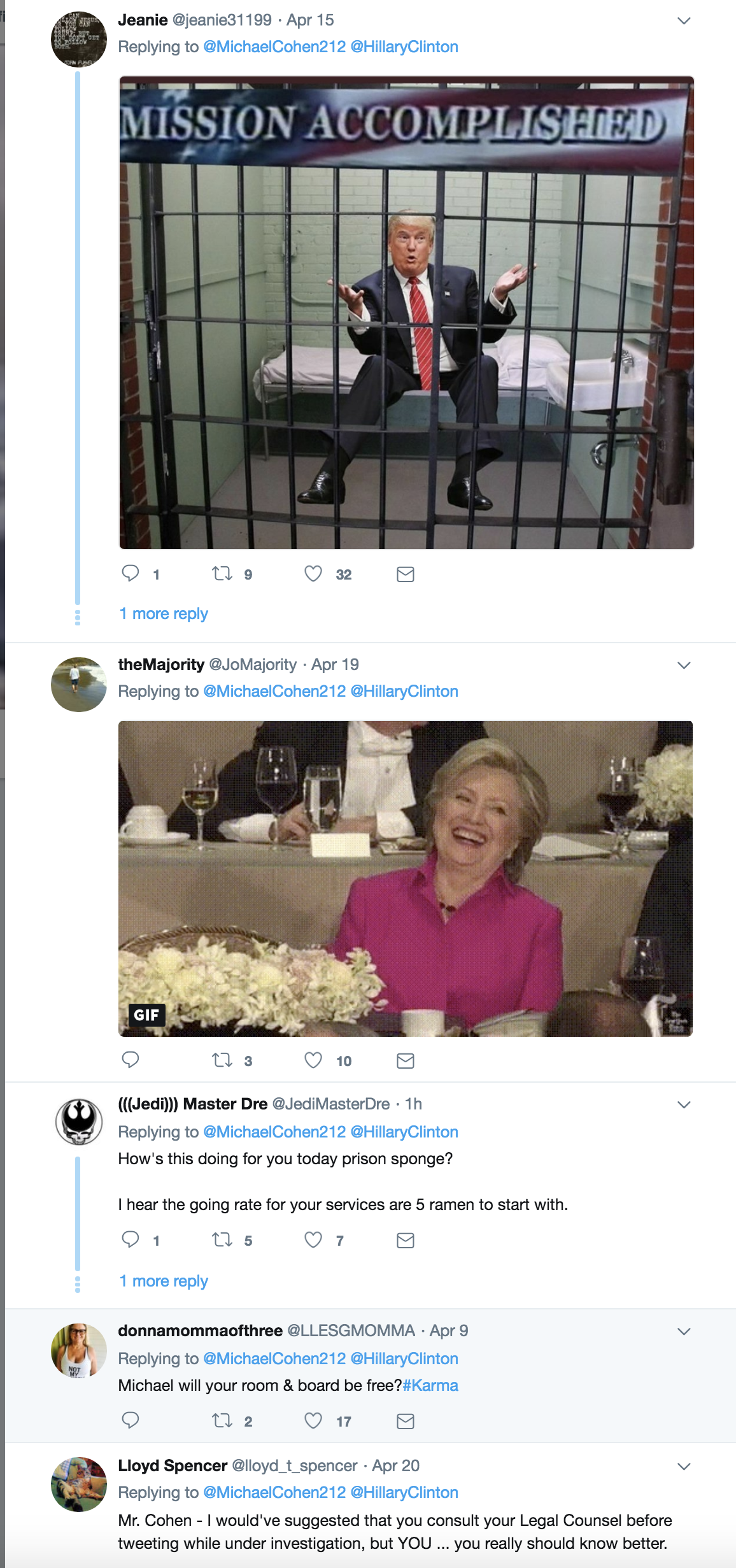 Screen-Shot-2018-08-21-at-4.09.33-PM Old Michael Cohen Tweet About Hillary Clinton Goes Viral Again In The Best Way Possible Celebrities Corruption Crime Donald Trump Election 2016 Politics Top Stories