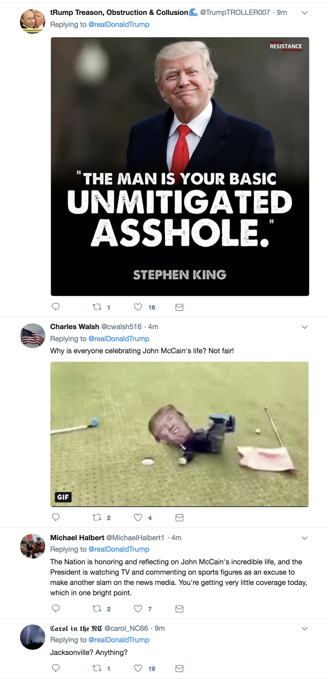 Screen-Shot-2018-08-27-at-8.49.15-AM Trump Goes Off On Twitter About Golfer Tiger Woods Like An Escaped Mental Patient Celebrities Donald Trump Politics Sports Top Stories