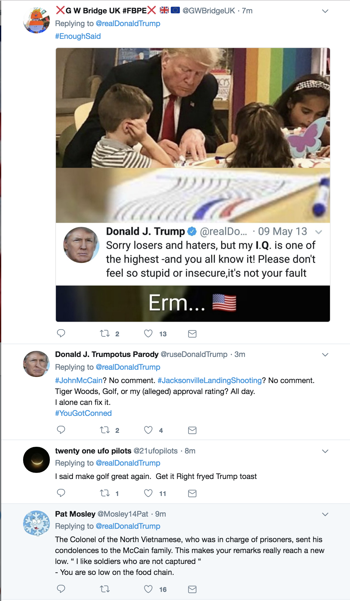 Screen-Shot-2018-08-27-at-8.49.39-AM Trump Goes Off On Twitter About Golfer Tiger Woods Like An Escaped Mental Patient Celebrities Donald Trump Politics Sports Top Stories