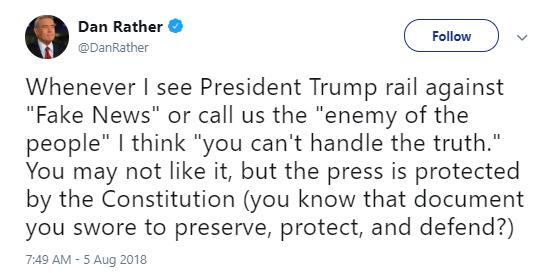 rather Donald Trump Jr. Just Attacked Beloved Journalist Dan Rather On Twitter Like A Punk Donald Trump Media Politics Social Media Top Stories