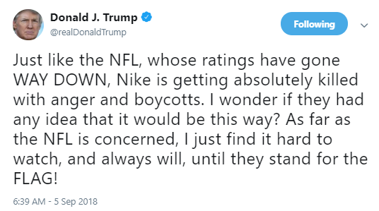 nike-liues Marco Rubio Thumbs Nose At Trump & Announces Support For NFL Kneeling Player Donald Trump Politics Top Stories