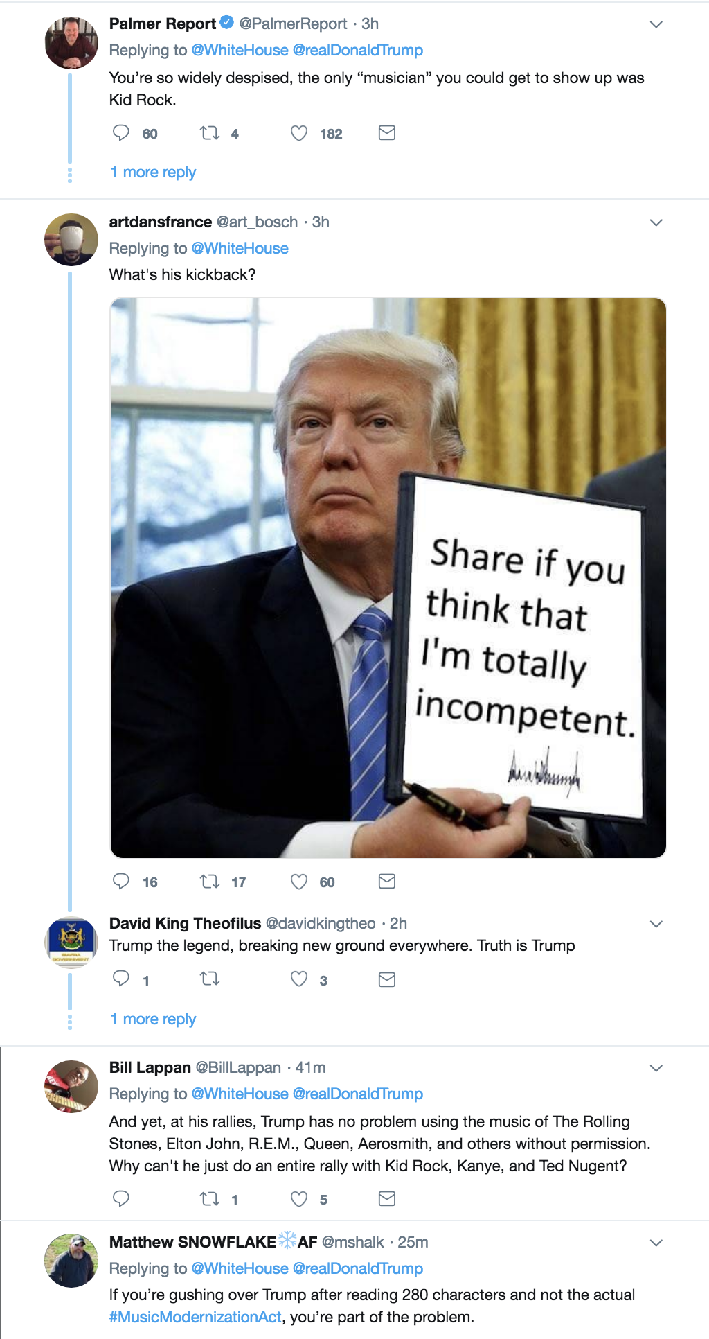 Screen-Shot-2018-10-11-at-3.16.58-PM Trump Tweets Video About Signing Law To Protect Musicians & Gets Eaten Alive Donald Trump Economy Hollywood Music Politics Television Top Stories Videos