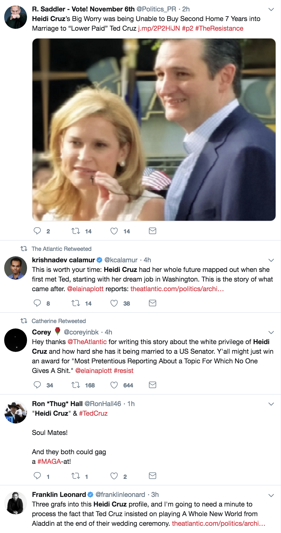 Screen-Shot-2018-10-18-at-10.53.07-AM Heidi Cruz Just Complained About Ted's Six Figure Salary & Americans Are Livid Election 2018 Election 2020 Feminism Politics Top Stories