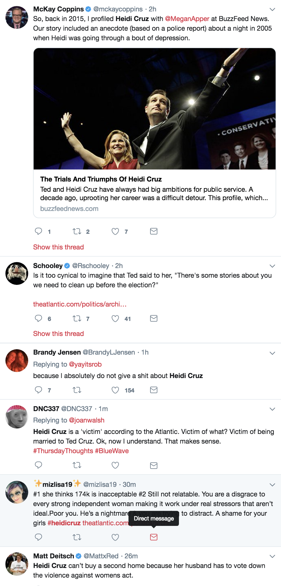 Screen-Shot-2018-10-18-at-10.53.27-AM Heidi Cruz Just Complained About Ted's Six Figure Salary & Americans Are Livid Election 2018 Election 2020 Feminism Politics Top Stories