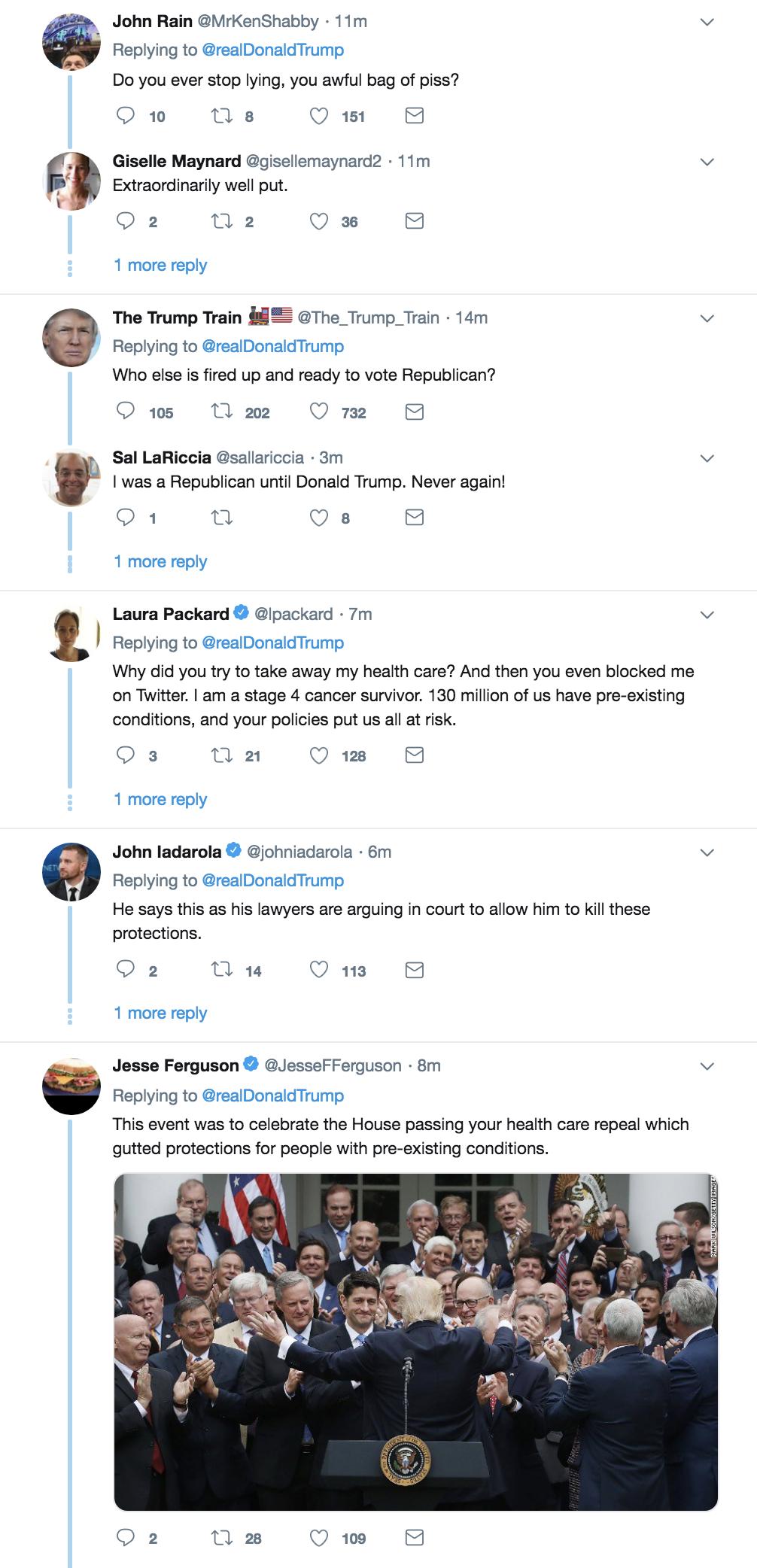 Screen-Shot-2018-10-18-at-3.00.47-PM Trump Tweets Major Campaign Lie - Attacks Democrats Like A Tyrant Corruption Domestic Policy Donald Trump Healthcare Politics Top Stories