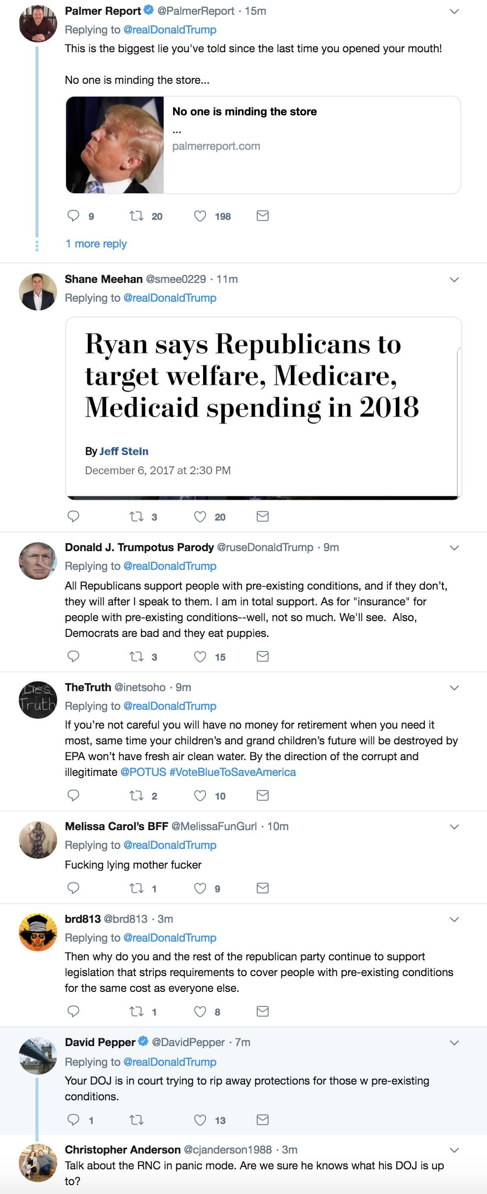 Screen-Shot-2018-10-18-at-3.00.58-PM Trump Tweets Major Campaign Lie - Attacks Democrats Like A Tyrant Corruption Domestic Policy Donald Trump Healthcare Politics Top Stories