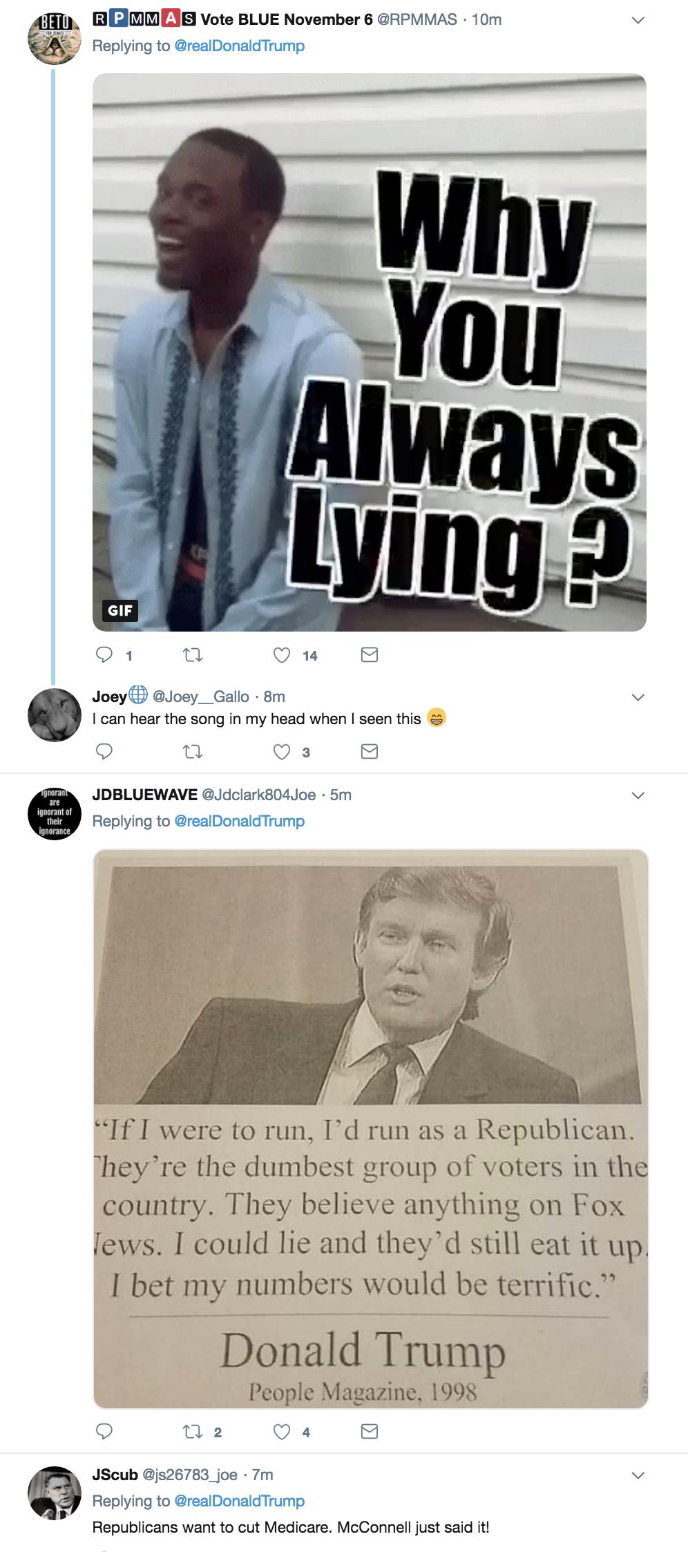 Screen-Shot-2018-10-18-at-3.01.11-PM Trump Tweets Major Campaign Lie - Attacks Democrats Like A Tyrant Corruption Domestic Policy Donald Trump Healthcare Politics Top Stories