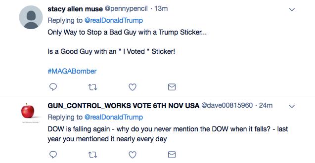 Screenshot-at-Oct-26-14-55-50 Trump Tweets Praise For Law Enforcement For Apprehending His Deranged Supporter Donald Trump Featured Politics Social Media Terrorism Top Stories