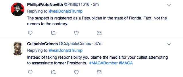 Screenshot-at-Oct-26-14-59-26 Trump Tweets Praise For Law Enforcement For Apprehending His Deranged Supporter Donald Trump Featured Politics Social Media Terrorism Top Stories