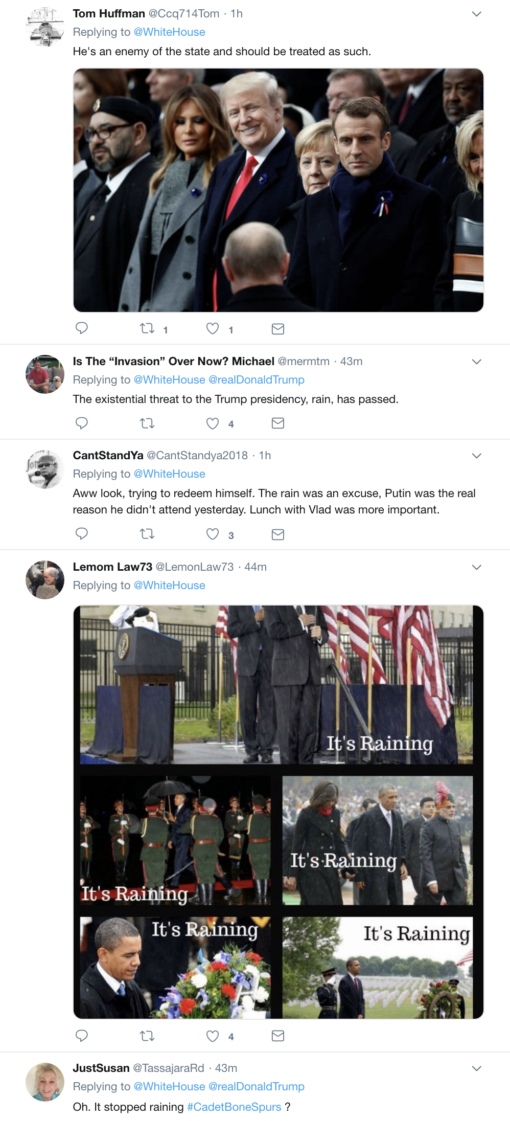 Screen-Shot-2018-11-11-at-10.34.45-AM Trump Speaks At WWI Cemetery In France & Makes A Dope Of Himself Instantly Donald Trump Foreign Policy History Military Top Stories