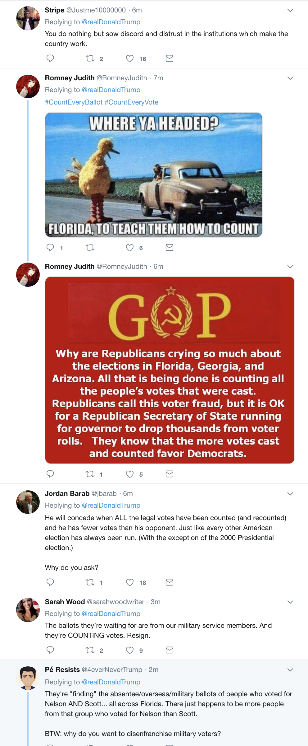 Screen-Shot-2018-11-13-at-10.45.07-AM Trump Tweets About Florida Recount In Desperate Attempt To Sway Outcome Corruption Crime Donald Trump Election 2018 Election 2020 Politics Top Stories