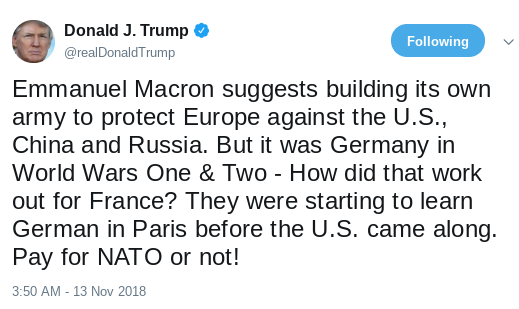 Screenshot-2018-11-14-at-11.15.30-AM France Humiliates Trump With Official Wednesday Announcement Of Donald's Failures Donald Trump Politics Top Stories