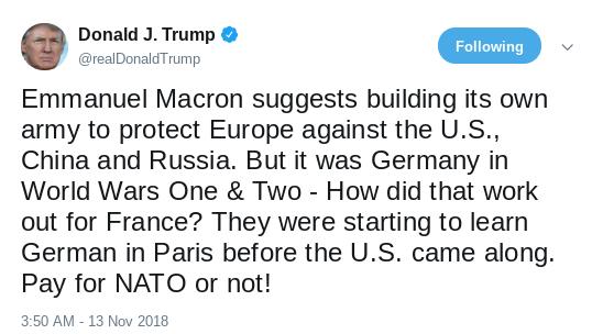 Screenshot-2018-11-15-at-12.44.30-PM Macron Retaliates Over Trump's Incessant Twitter Attacks - Donald Humiliated Donald Trump Politics Social Media Top Stories