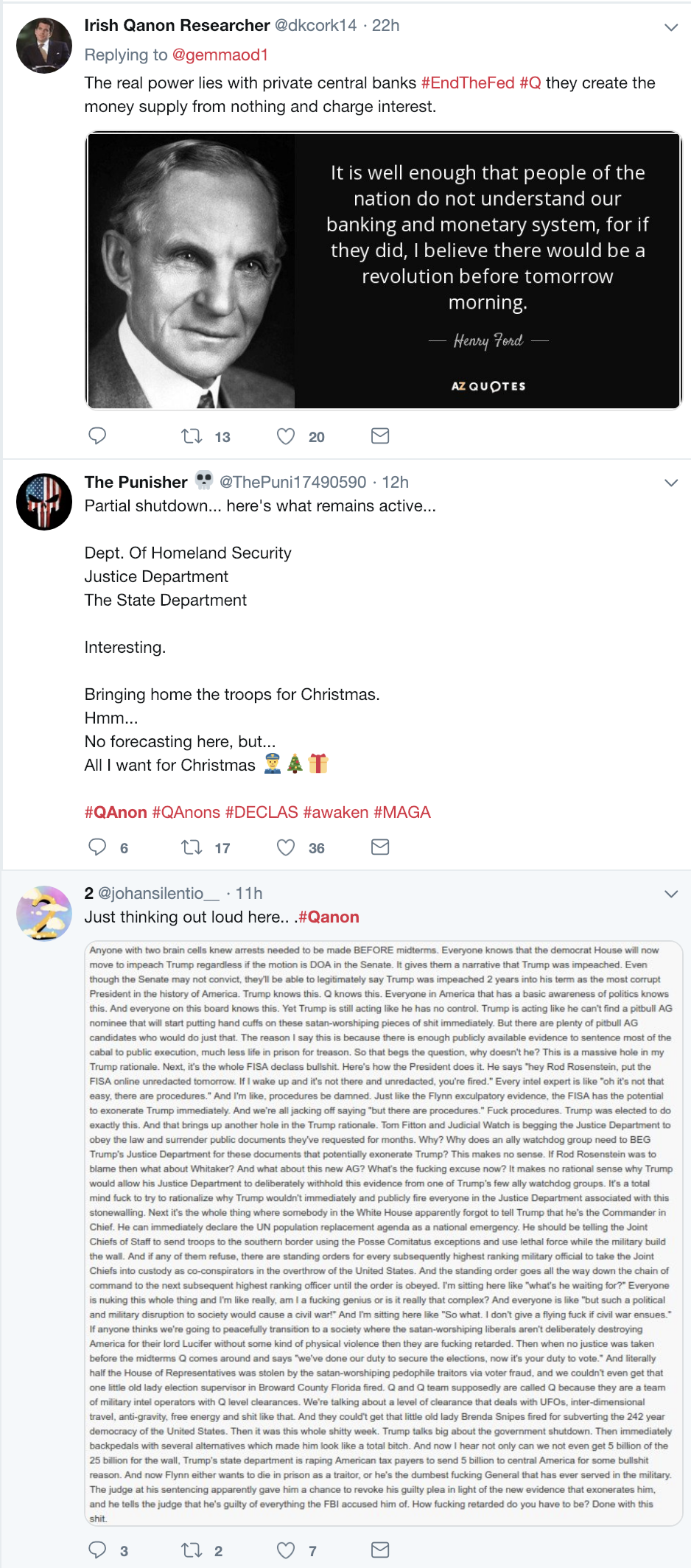 Screen-Shot-2018-12-23-at-10.44.21-AM Trump-Supporting 'QAnon' Conspiracy Theorists Whine About Being Alone For X-Mas Corruption Donald Trump Election 2016 Election 2018 Election 2020 Social Media Top Stories